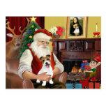 Santa's Jack Russell Terrier PUP Postcard