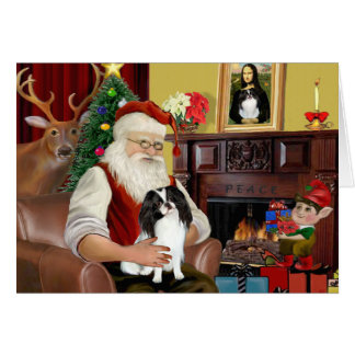 Santa's Japanese Chin Card