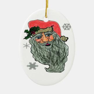 Santas Jolly Face Christmas Ornament