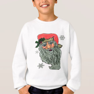 Santas Jolly Face Sweatshirt