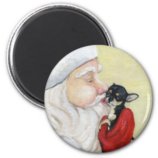 """Santa's Kiss for Chihuahua"" Magnet"