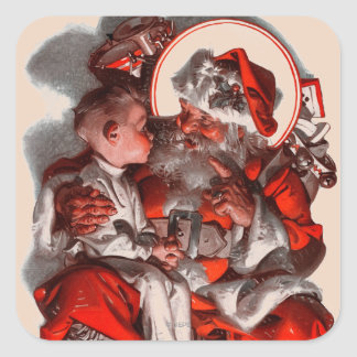 Santa's Lap Square Sticker