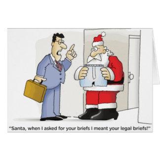 Santa's Legal Briefs Card