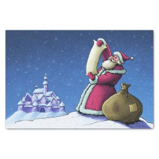 santa's list christmas holiday illustration tissue paper