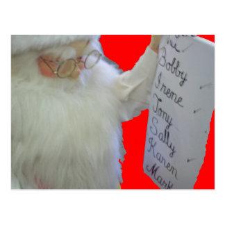 Santa's List Postcard