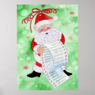 Santa's List Print