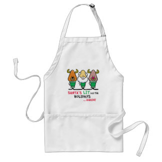 Santa's Lit for the Holidays Adult Apron