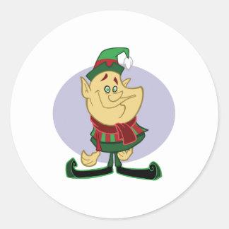 Santa's Little Elf Classic Round Sticker