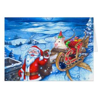Santa's Little Hamster Card
