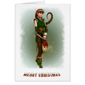Santas Little Helper Amy Card