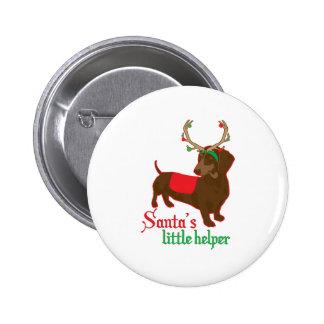 santas little helper 6 cm round badge