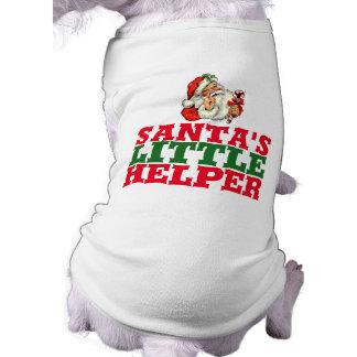 Santa's little helper Christmas dog shirt