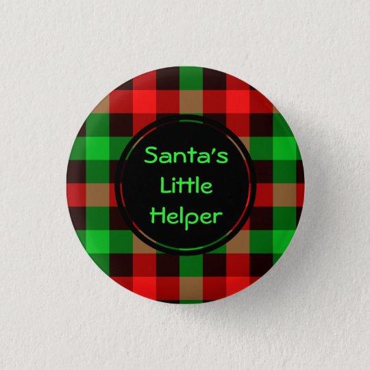 Santas little helper  Custom Round Button