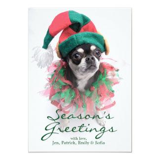 Santa's Little Helper Elf Dog Card