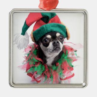 Santa's Little Helper Elf Dog Christmas Ornament