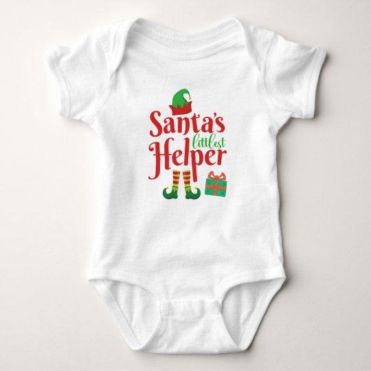 Santa's Little Helper | Holiday Christmas Saying | Baby Bodysuit