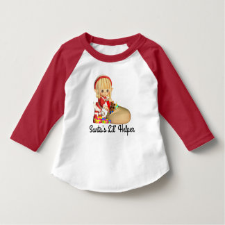 Santa's Little Helper Red Girl Elf T-Shirt