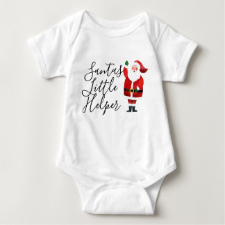 Santa's Little Helper Santa and Custom Typography Baby Bodysuit