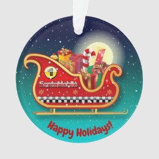 Santa's Magic Xmas Sleigh Ornament