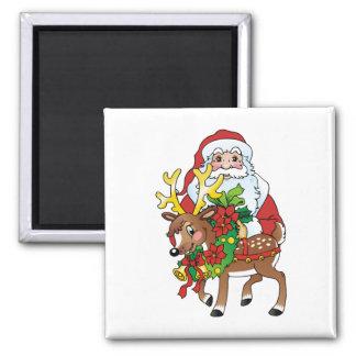 Santas Refrigerator Magnet
