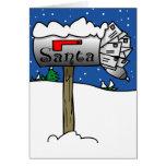 Santa's Mailbox Christmas Card