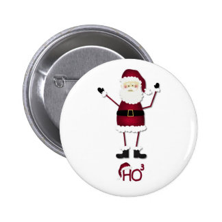 Santa's Math 6 Cm Round Badge