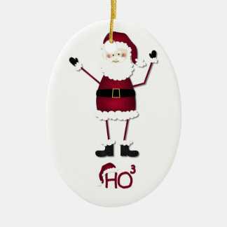 Santa's Math Ceramic Oval Decoration