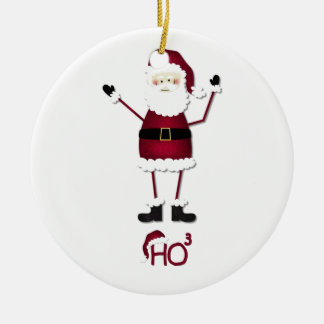 Santa's Math Round Ceramic Decoration