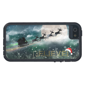 Santa's Midnight Ride Christmas iPhone 5/5S Cases