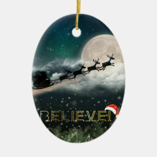 Santa's Midnight Ride Christmas Ornament
