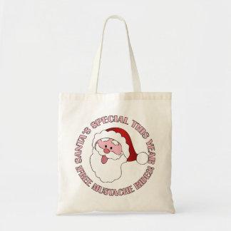 Santa's Mustache Rides bag - choose style