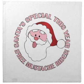 Santa's Mustache Rides cloth napkins