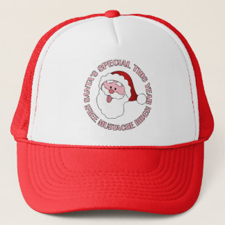Santa's Mustache Rides hat - choose color