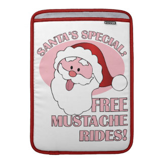 Santa's Mustache Rides MacBook sleeve