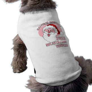 Santa's Mustache Rides pet clothing