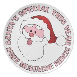Santa's Mustache Rides plates