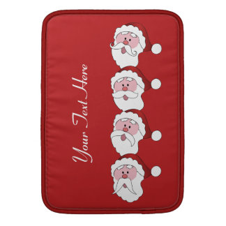 Santa's Mustaches custom color MacBook sleeve