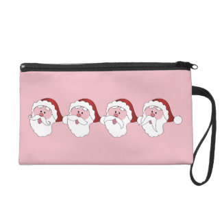 Santa's Mustaches custom color wristlet