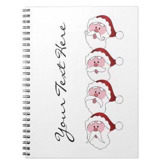 Santa's Mustaches custom notebook