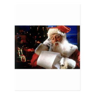 Santas Naughty and Nice List Postcard