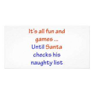 Santa's Naughty List Personalized Photo Card