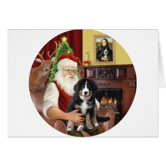 Santas new- Bernese Mountain Dog Puppy (L) Card