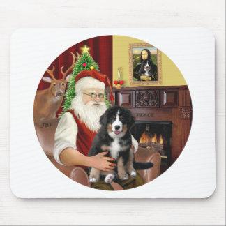 Santas new- Bernese Mountain Dog Puppy L Mousepad