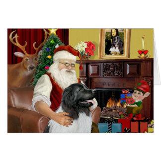 Santa's Newfie Landseer Card