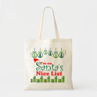 Santa's Nice List Tote Bag