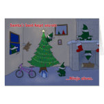 Santa's Ninja Elves Greeting Card