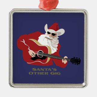 Santa's Other Gig Christmas Ornament
