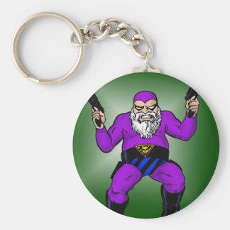 santa's other job: day 363 basic round button key ring