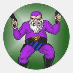 santa's other job: day 363 round sticker