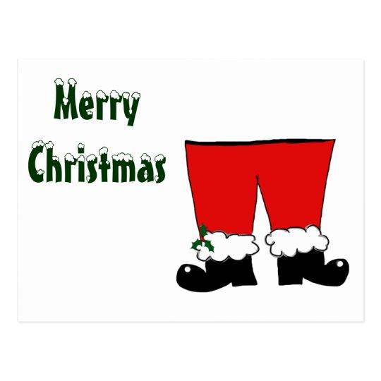 Santa's Pants Postcard